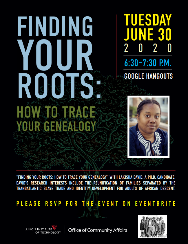 Register now: https://www.eventbrite.com/e/finding-your-roots-how-to-trace-your-genealogy-tickets-108730008382